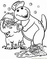 Barney Coloring Printable Pages Cartoons sketch template