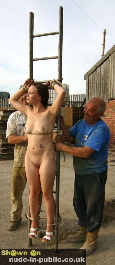 She Is Stripped Exposed And Groped In Public Nudeshots