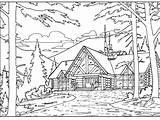 Cabin Coloring Printable Both sketch template