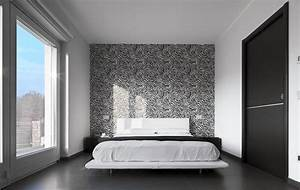 93 modern master bedroom design ideas pictures With chambre a coucher avec papier peint