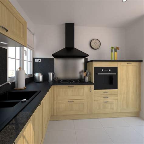 cuisines en l cuisine en bois brut de style classique