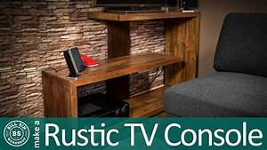 How to make a Rustic TV Stand - Reclaimed wood project