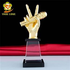 Metal Glass Music Trophy Awards For Sale TL-0187 Crystal