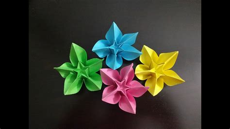 diy simple origami paper flowers easy wall home