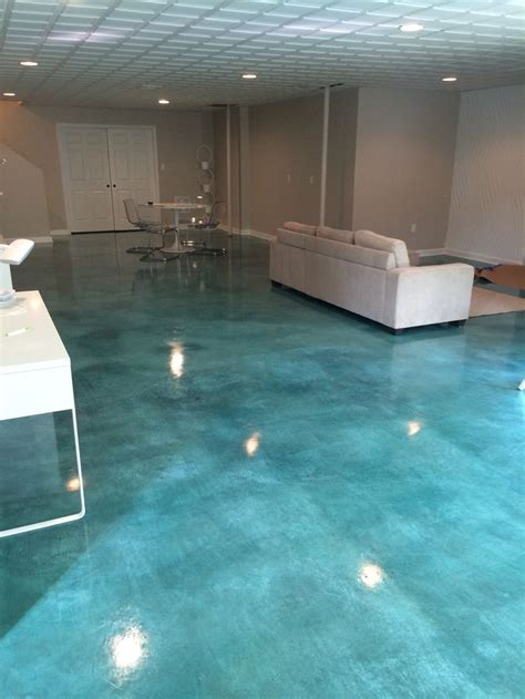 stained concrete floor kitchen acid stained concrete floor turquoise interiors 5694