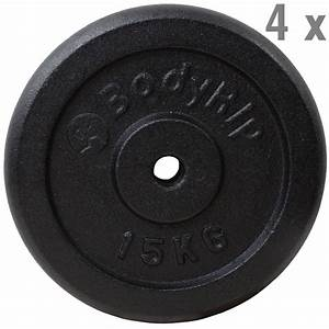 Cast Iron 1 U0026quot  Hole Weight Plate Plates Discs Weights Training Exercise Gym Muscle