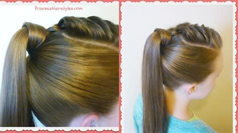 easy way to style hair the best hair wrapped ponytail easy hairstyle tutorial 4053