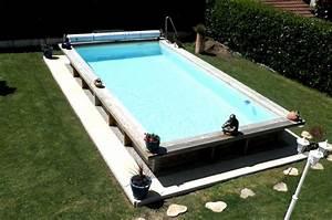 Piscine En Bois Prix : piscine hors sol acier et bois rectangulaire fabrication ~ Zukunftsfamilie.com Idées de Décoration