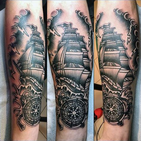 famous traditional ship tattoos  pirate ship