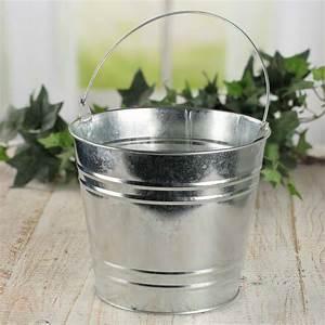 Galvanized, Metal, Paint, Bucket, Planter, -, Baskets, Buckets, U0026, Boxes