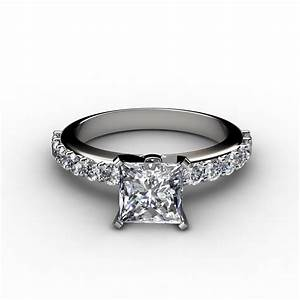 shared prong vintage design engagement ring With wedding rings princess