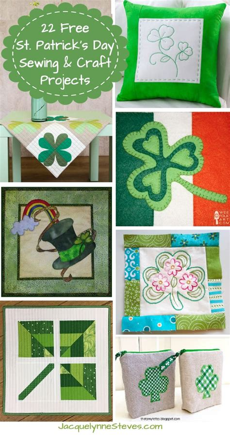 22 St Patrick's Day Sewing And Craft Projects
