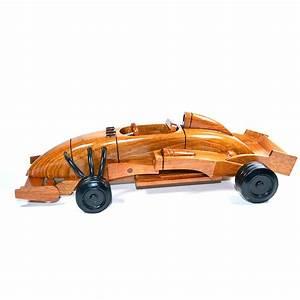 Formula 1 Wooden Art Race Car Model : Wood Toy
