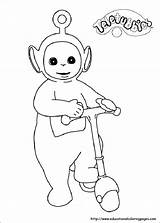 Teletubbies Coloring Pages Sheets Printable Worksheets sketch template