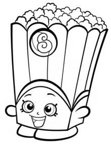 Poppy Corn Shopkin coloring page Free Printable Coloring