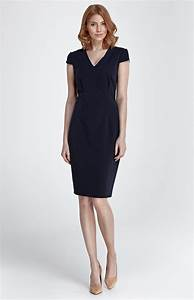 navy blue short sleeves sheath dress nis85bm With robe courte droite