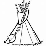 Tipi Pages Drawing Coloring Sketch Template Wigwam Pee Tee Getdrawings Native American sketch template