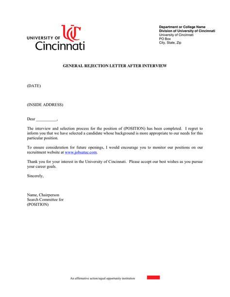 Declined Scholarships On Resume by Rejection Letter Template Letter Template 2017