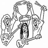Coloring Pages Rock Star Printable Band Getcolorings Coloring2print sketch template