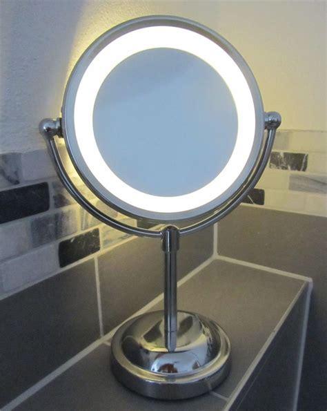 light up makeup mirror 5 x magnifying led illuminated bathroom make up