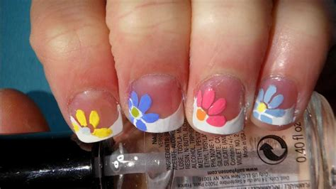 Quick And Easy Flower For Spring Nail Art Tutorial (short