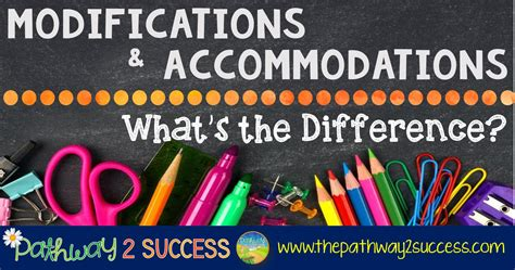 modifications  accommodations whats  difference