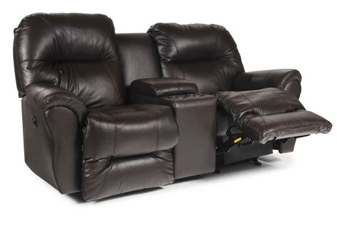 rocker recliner loveseat with console bodie leather power rocker reclining loveseat w console