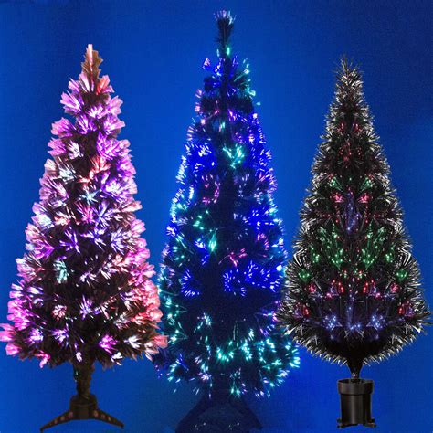 kasco colour changing led 2 6 ft fibre optic christmas tree black fibre optic tree colour changing 2ft 3ft 4ft 5ft 6ft tree ebay