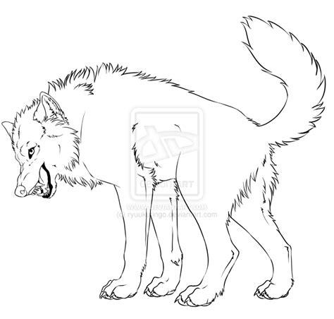 wolf head snarling drawing coloring pages
