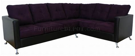37522 size of bed eggplant fabric black vinyl modern sectional sofa
