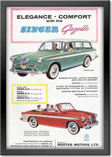 magazine gazelle cuisine 1958 singer gazelle retro magazine advert retrofair