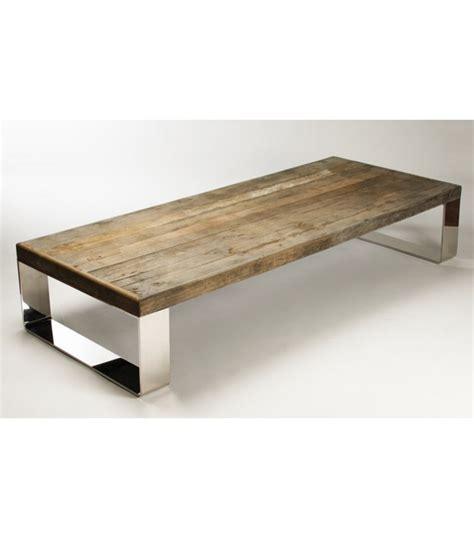 wood coffee table with metal legs reclaimed wood coffee table stainless steel legs