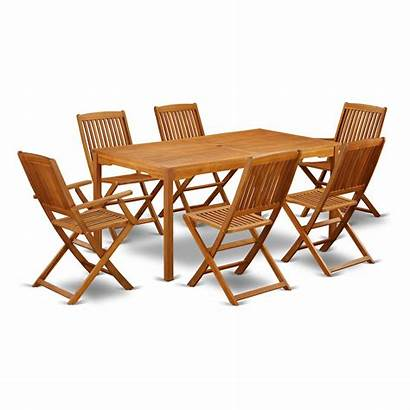 Wood Solid Patio Chairs Acacia Dining Furniture
