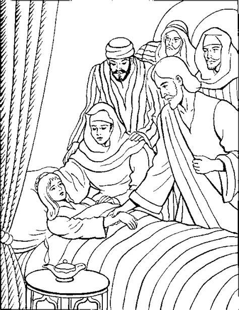Jesus Heals Jairus Daughter Coloring Page