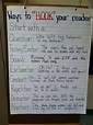 Ways to Hook Your Reader Anchor Chart | anchor charts ...
