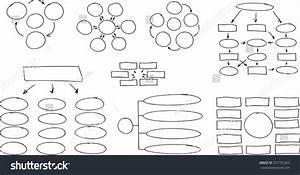 Hand Drawn Flow Chart Diagram  Organization Chart Stock