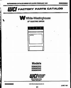 White-westinghouse 27 U0026quot  Electric Dryer