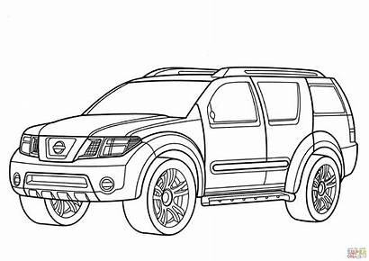 Suv Coloring Nissan Pages Cars Drawing Gtr