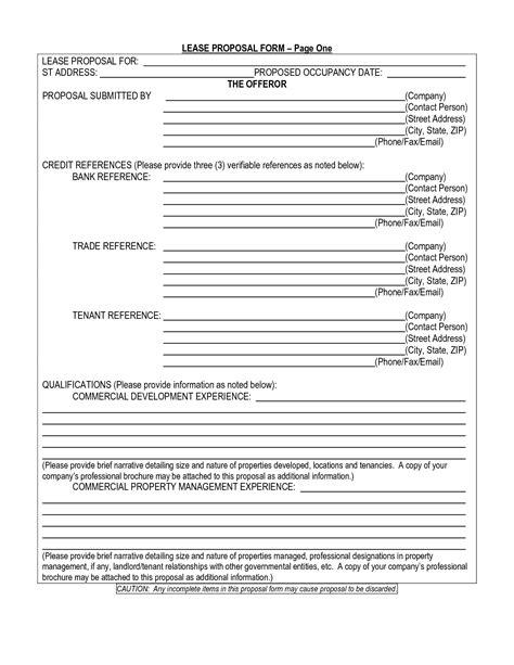 17478 tenant lease form rental lease agreement application forms templates ez