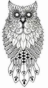 Owl Pattern Foil Crafting Aluminium Van sketch template