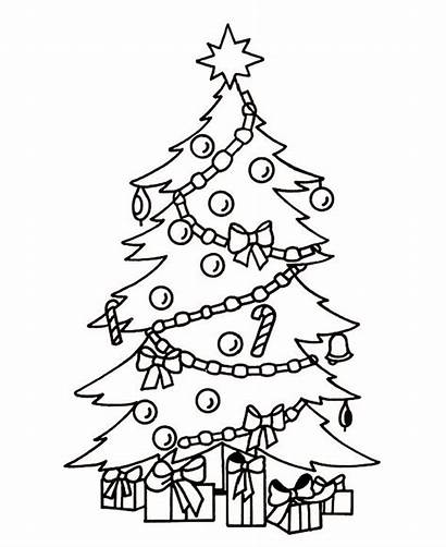 Coloring Christmas Tree Pages Printable
