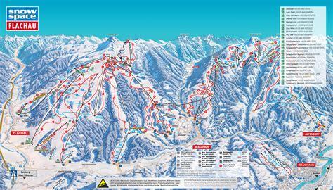 flachau trail map onthesnow