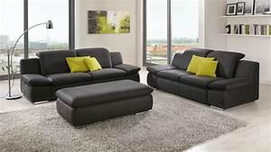 Polstergarnituren 3 2 1 Sitzer : sofa isona 3 sitzer anthrazit mit kopfteilverstellung armteilfunktion ~ Indierocktalk.com Haus und Dekorationen