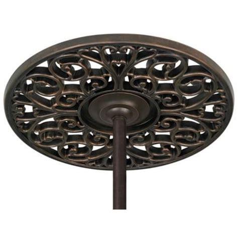 """Bronze Scroll 19 14"""" Wide Ceiling Fan Ceiling Medallion"""