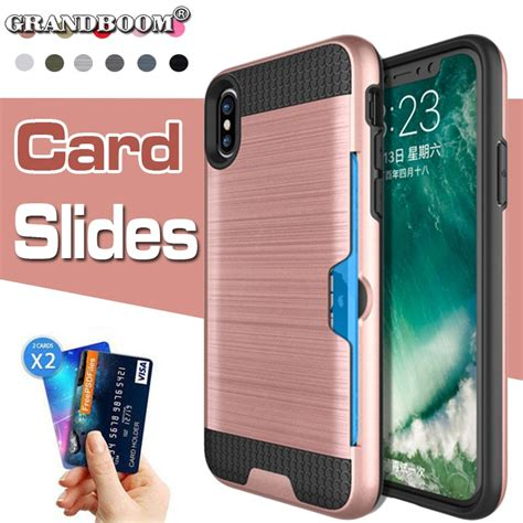 Clicking on the following color links will display the product in that color in the previous images block. Slide Wallet Credit Card Slot Holder Clip PC Case For iPhone XS Max XR X 8 7 Plus 6 6S Dual ...