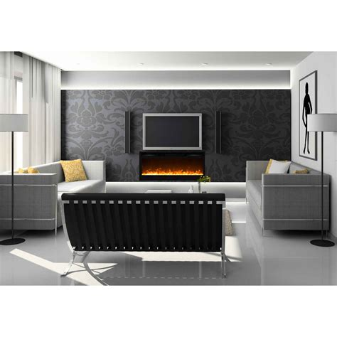 wall mount electric fireplace no heat regal 35 inch built in ventless heater