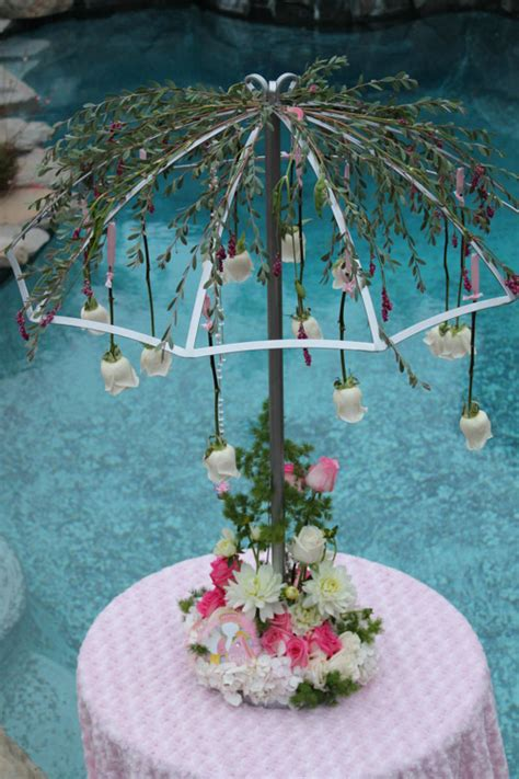 april showers centerpiece wedding party rentals san
