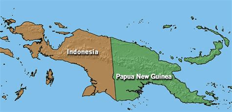 indonesia  guinea map