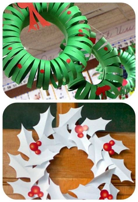 christmas decoration useing construction paper make a construction paper wreath great to get the ones ready to help with this adorable