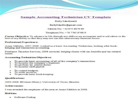 Different Types Of Curriculum Vitae Format by Cv Template
